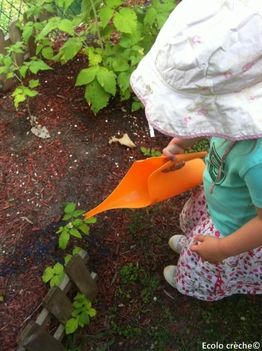 Jardinage à la crèche