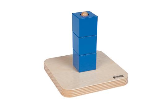 Montessori cubes sur tige verticale Nienhuis