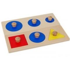 Encastrement 6 formes géometriques Tangram Montessori