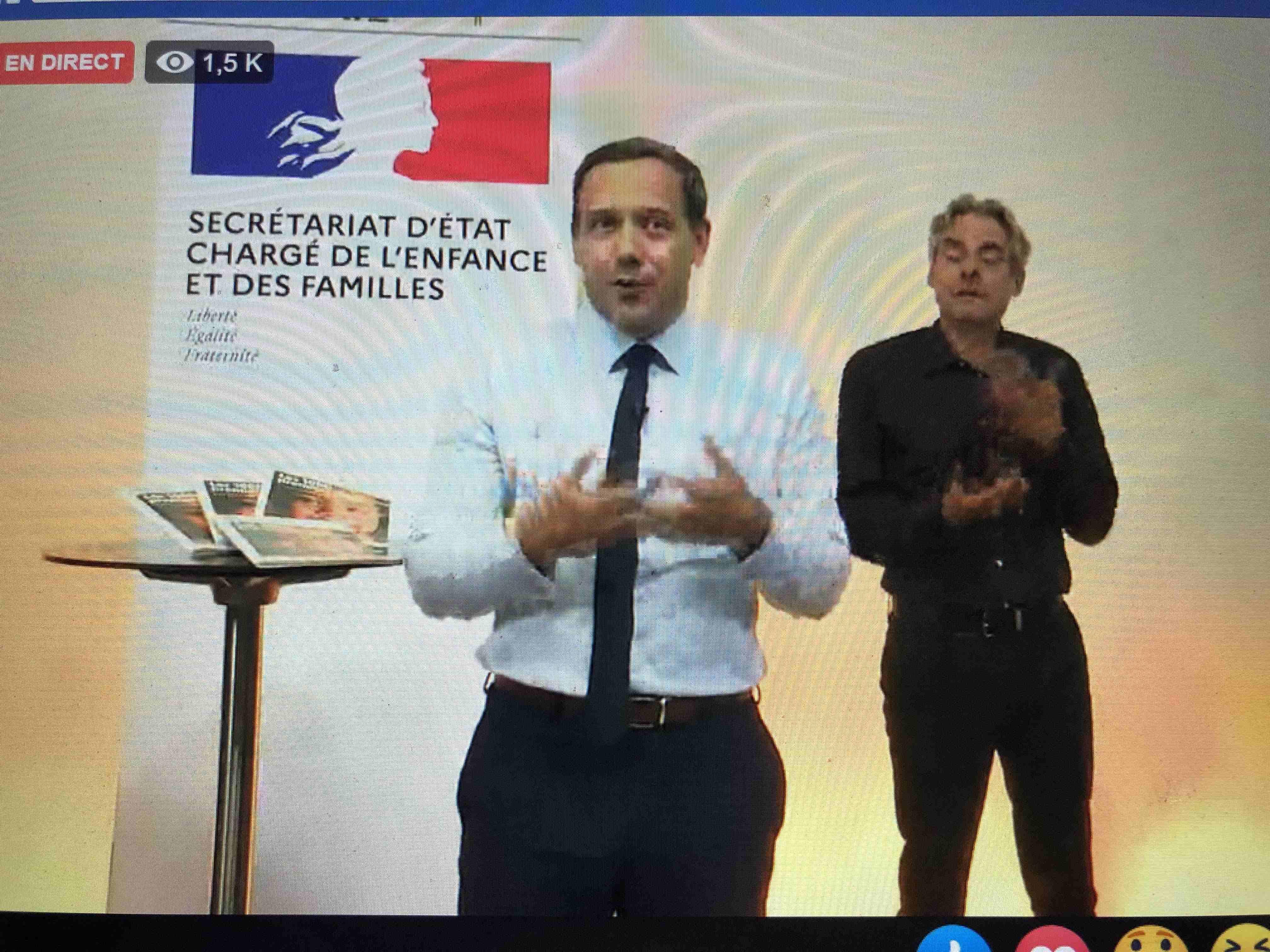 Adrien Taquet Facebook live