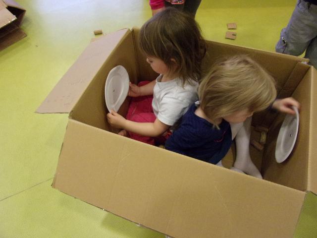cabane en carton