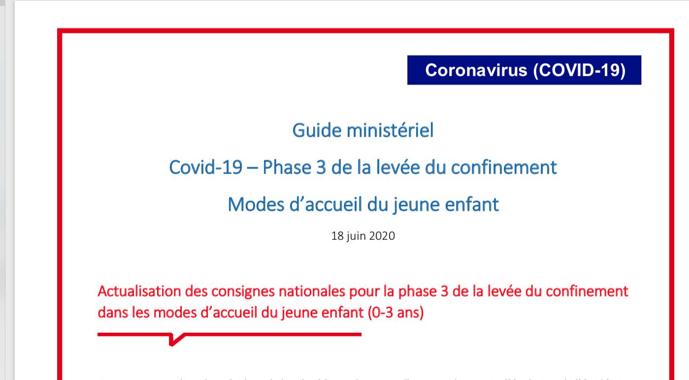 guide ministériel COVID 19-Modes d