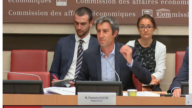 François Ruffin devant la Commission des Affaires Economiques