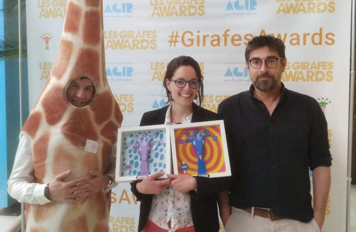 lauréate aux Girafes Awards