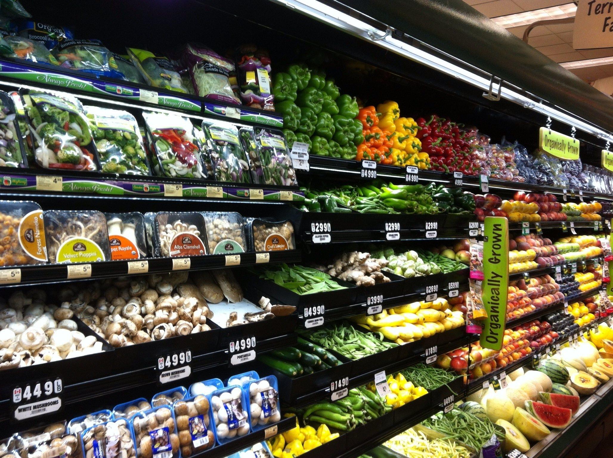 Rayon fruits et légumes d