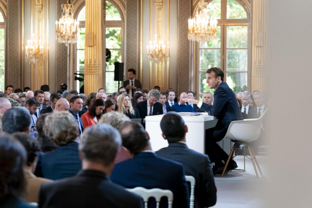 conference de presse Emmanuel Macron