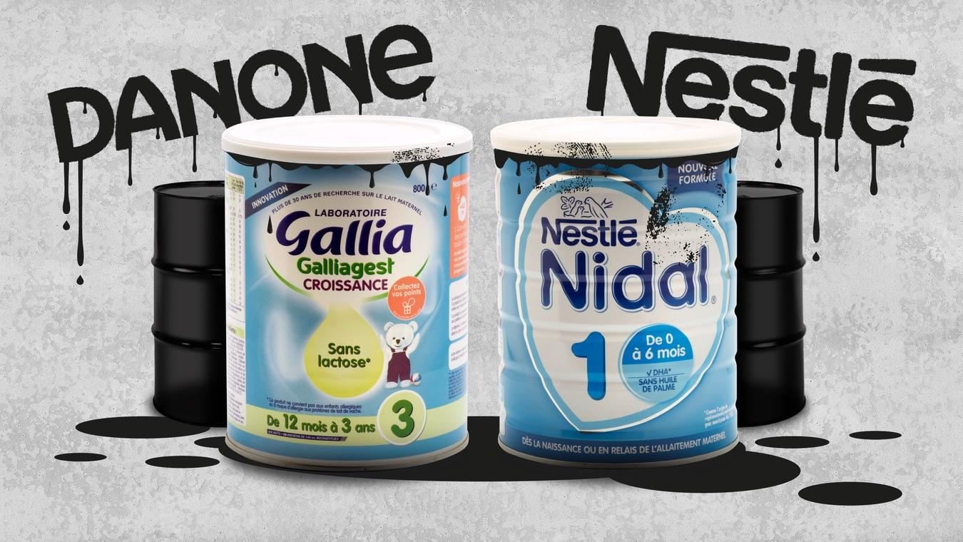 Deux boîtes de lait infantile contaminés sont présentées comme des pots de peinture