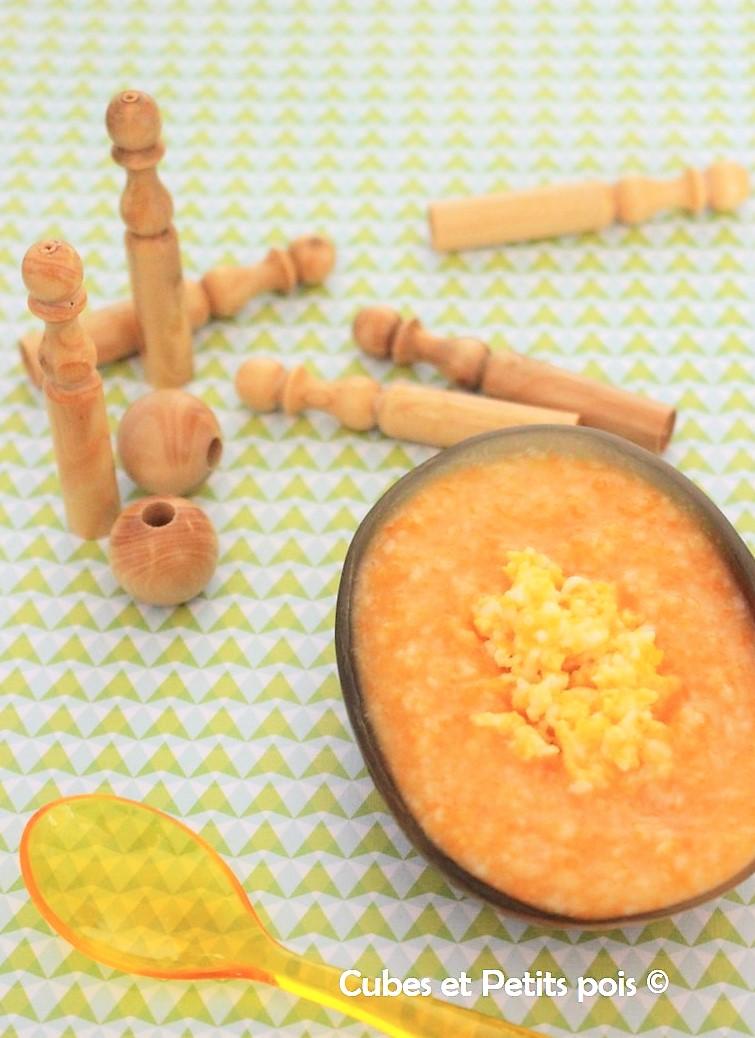 Millet à la carotte et petit œuf