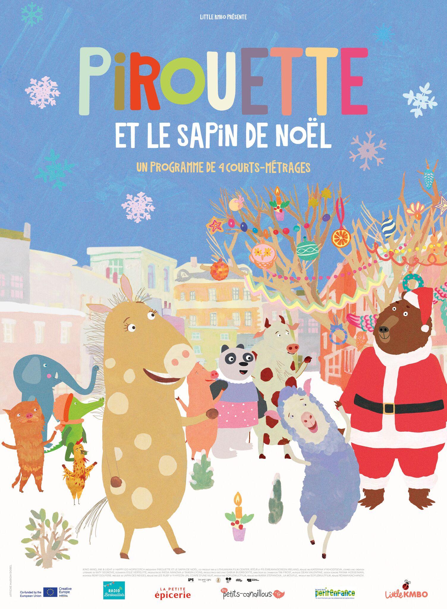 affiche film Pirouette et le sapin de Noël
