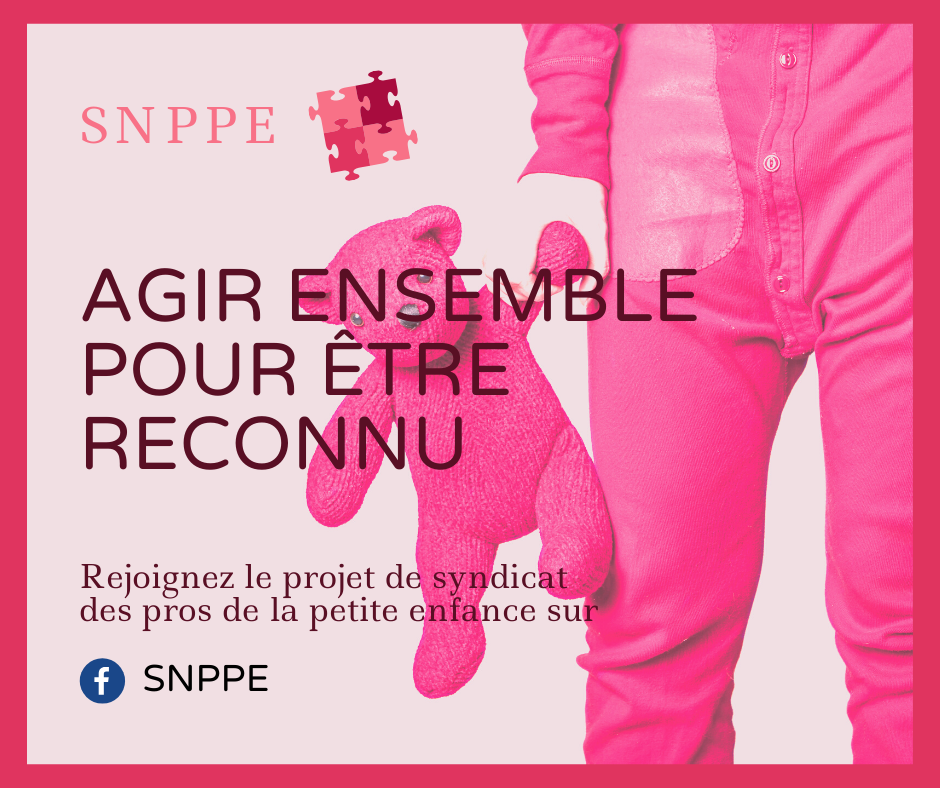 Affiche SNPPE Agir ensemble pour etre reconnu avec le bras d