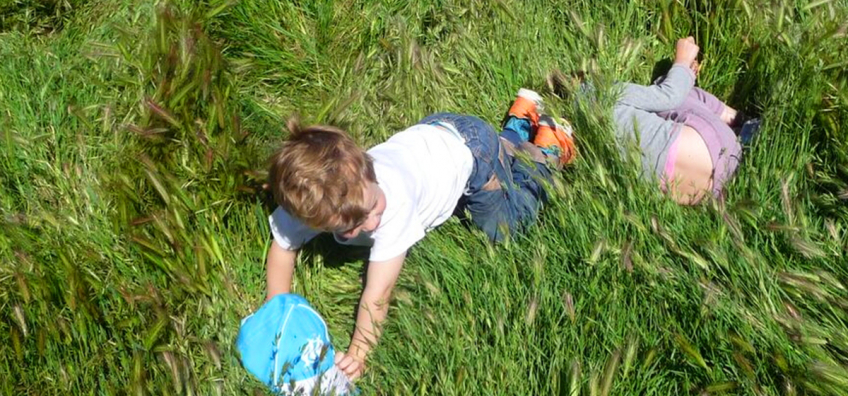 enfants adns l'herbe