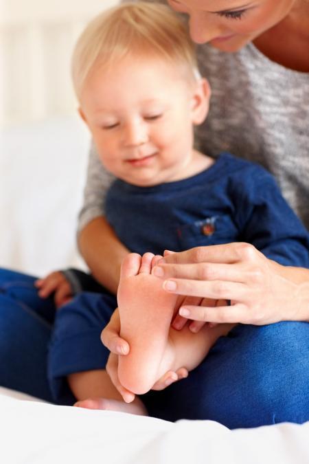 adulte  masse le pied d