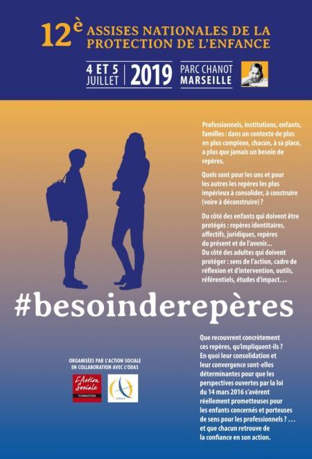 affiche de la 12ème édition des Assises Nationales de la protection de l