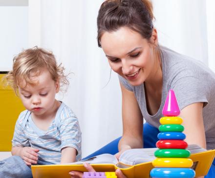 professionnelle avec enfant