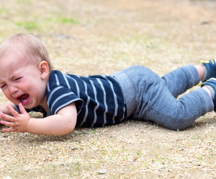 bébé qui a fait une chute