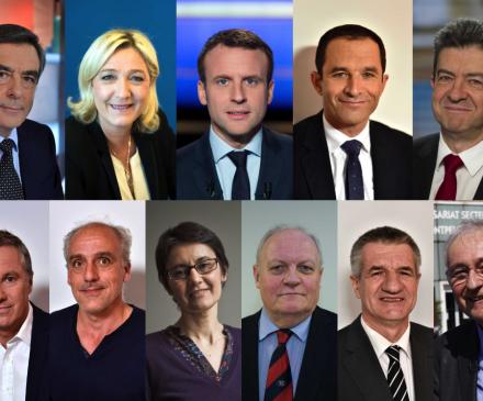 candidats à la présidentielle 2017