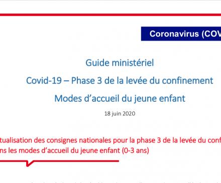 guide ministériel COVID 19-Modes d'accueil