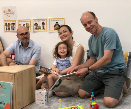 Laurent, Yuriko, Agnes et Frédéric - Little Agnes Nursery