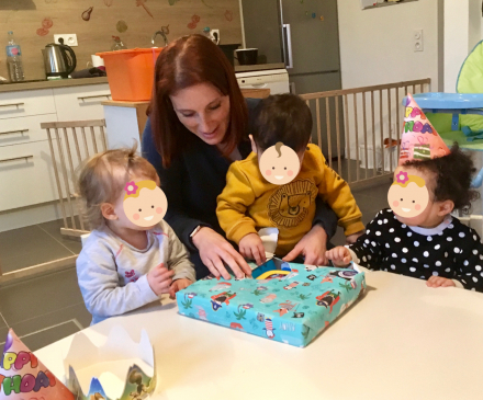 Meline avec des enfants