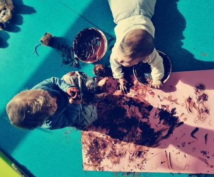 peinture avec du chocolat