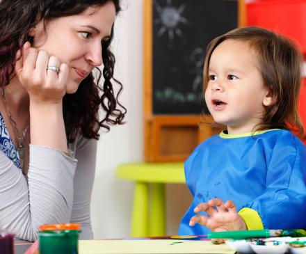 professionnelle et enfant