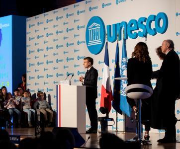 Emmanuel Macron à l'UNESCO