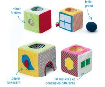 Cube en tissu Oxybul éveil et jeux