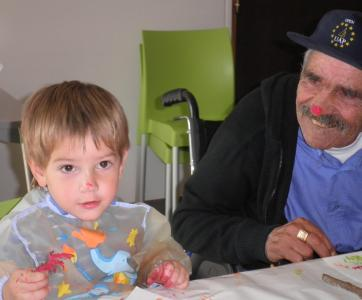 senior et enfant
