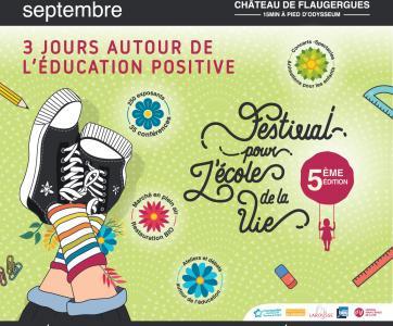 affiche festival pour l'école de la vie