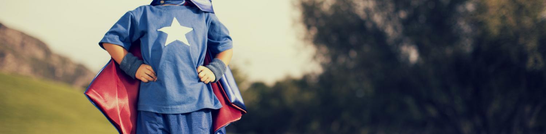 enfant déguisé en superman