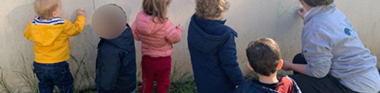 les enfants de la crèche Chambovet à Lyon